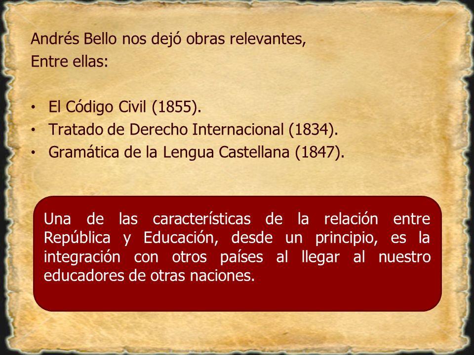 Andrés Bello nos dejó obras relevantes,