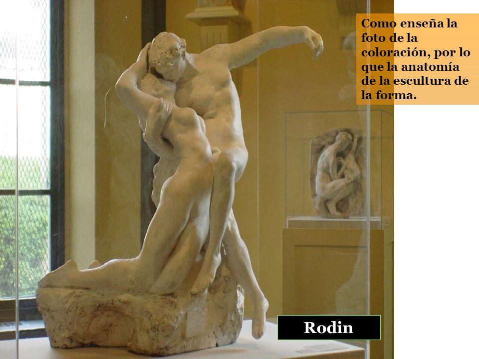 Como enseña la foto de la coloración, por lo que la anatomía de la escultura de la forma.