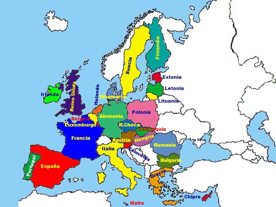 Finlandia Suecia. Estonia. Letonia. Holanda. Irlanda. Reino Unido. Dinamarca. Lituania. Polonia.