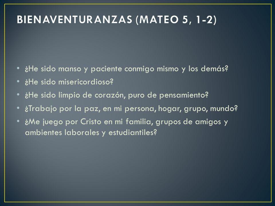 BIENAVENTURANZAS (MATEO 5, 1-2)