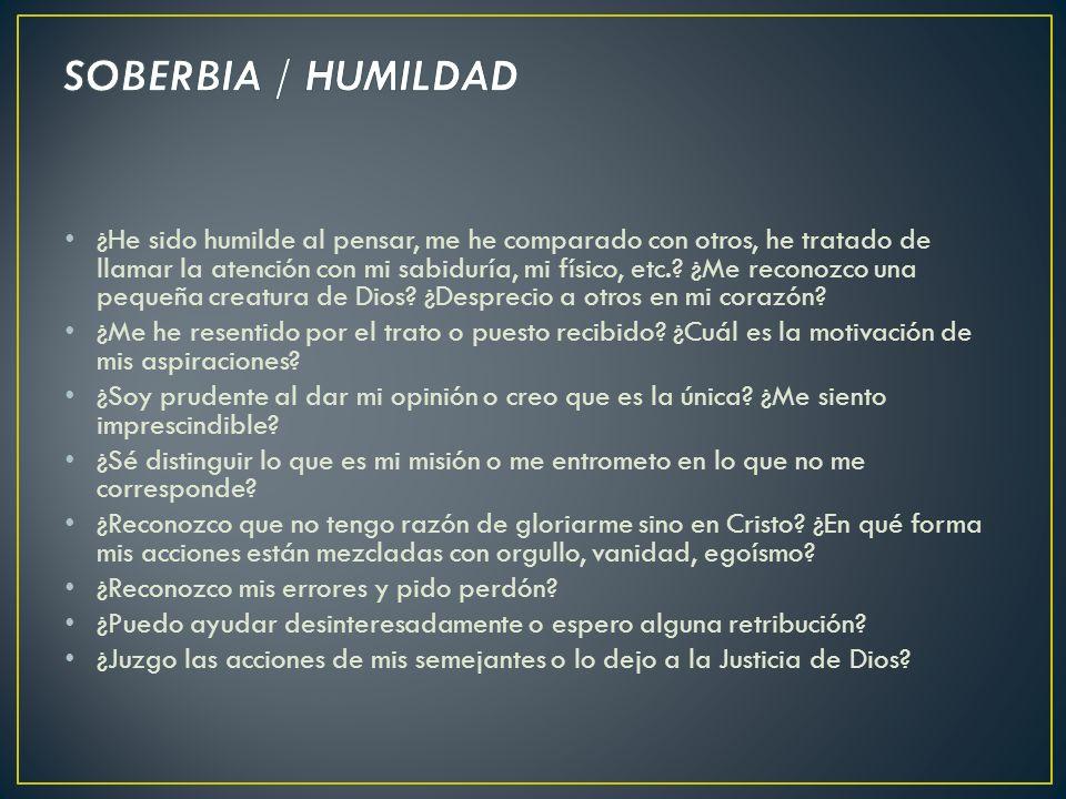 SOBERBIA / HUMILDAD