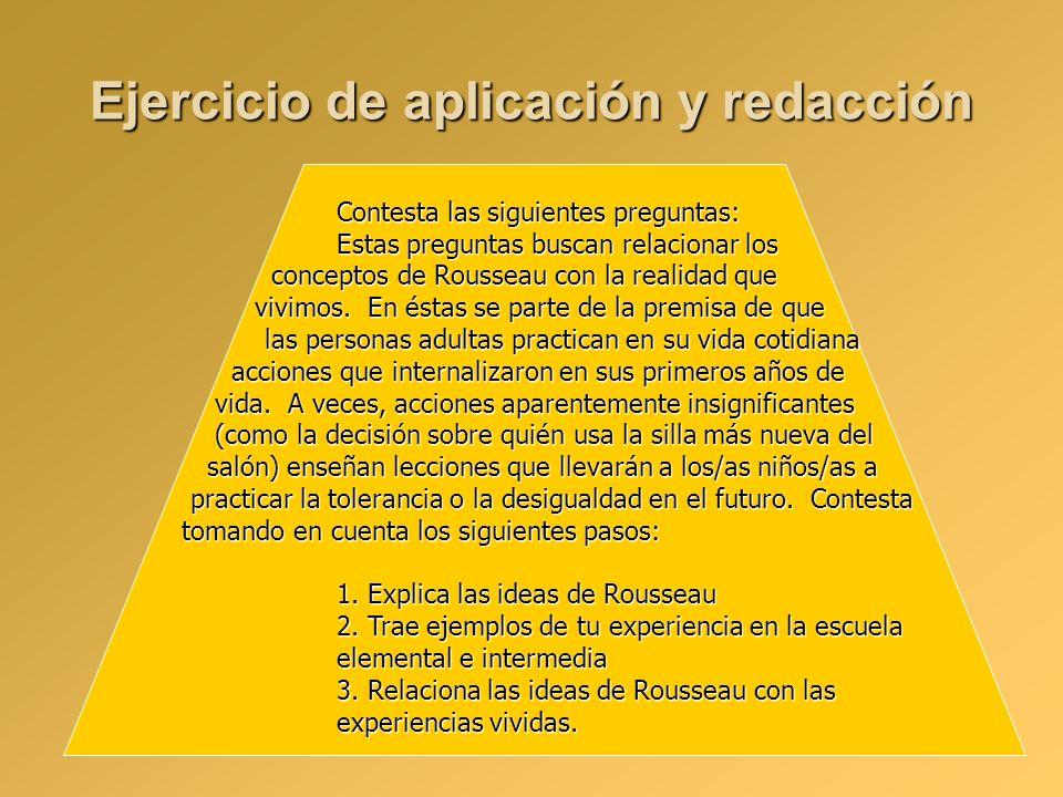 Ejercicio de aplicación y redacción