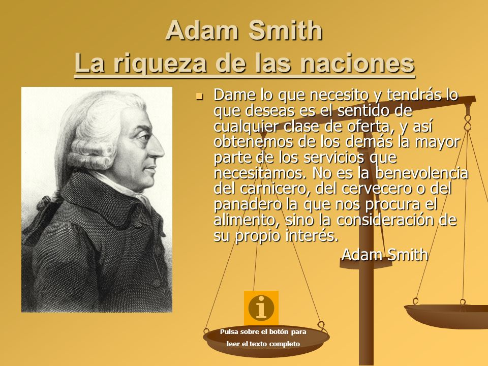 Adam Smith La riqueza de las naciones