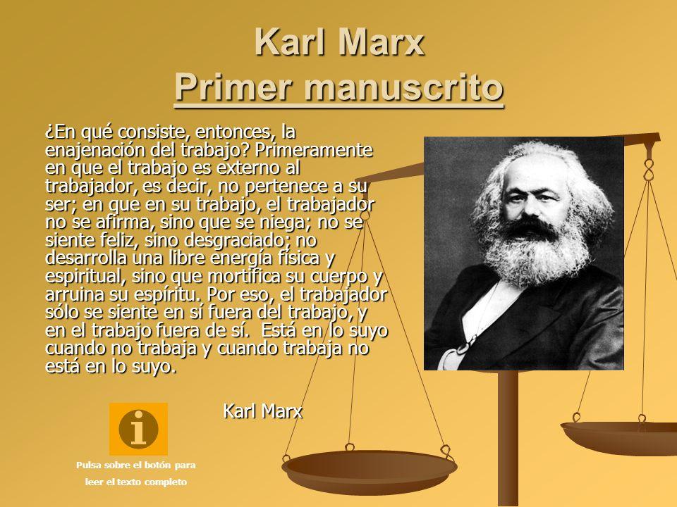 Karl Marx Primer manuscrito