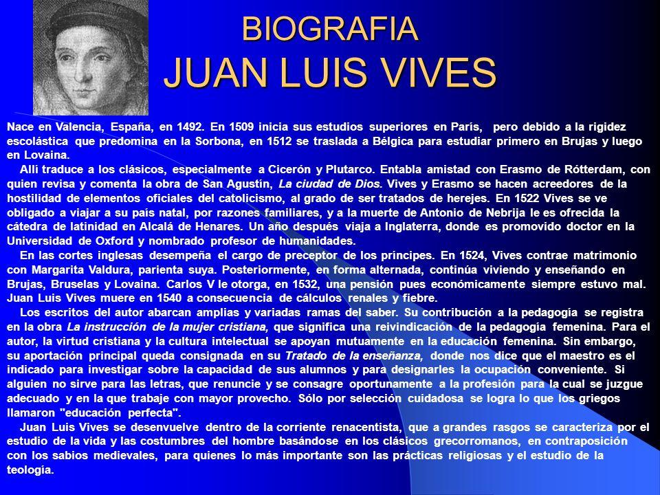 BIOGRAFIA JUAN LUIS VIVES