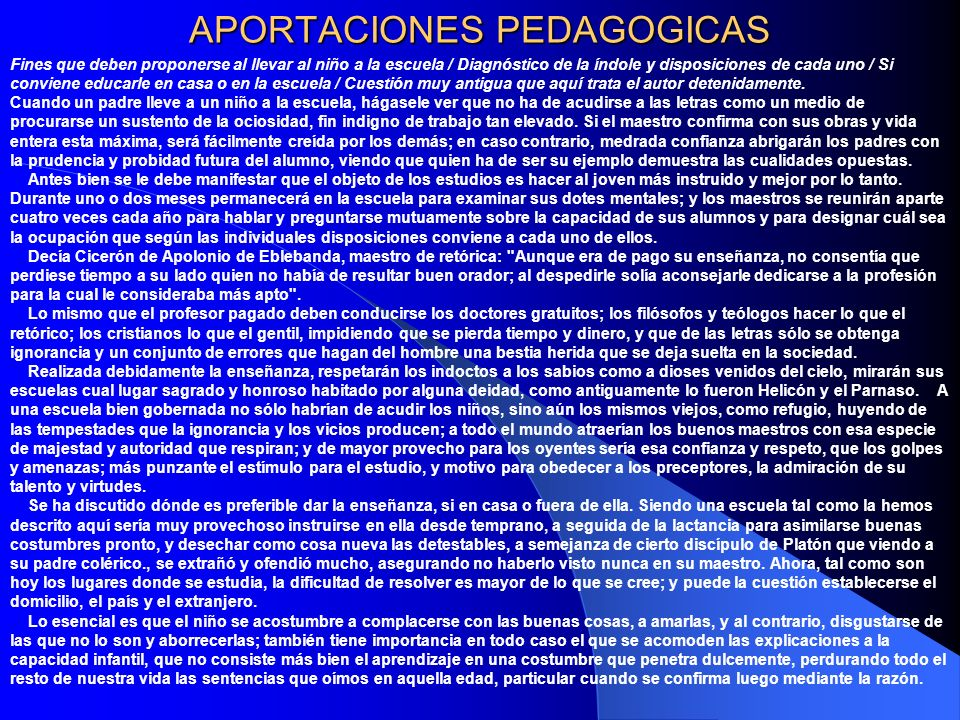 APORTACIONES PEDAGOGICAS