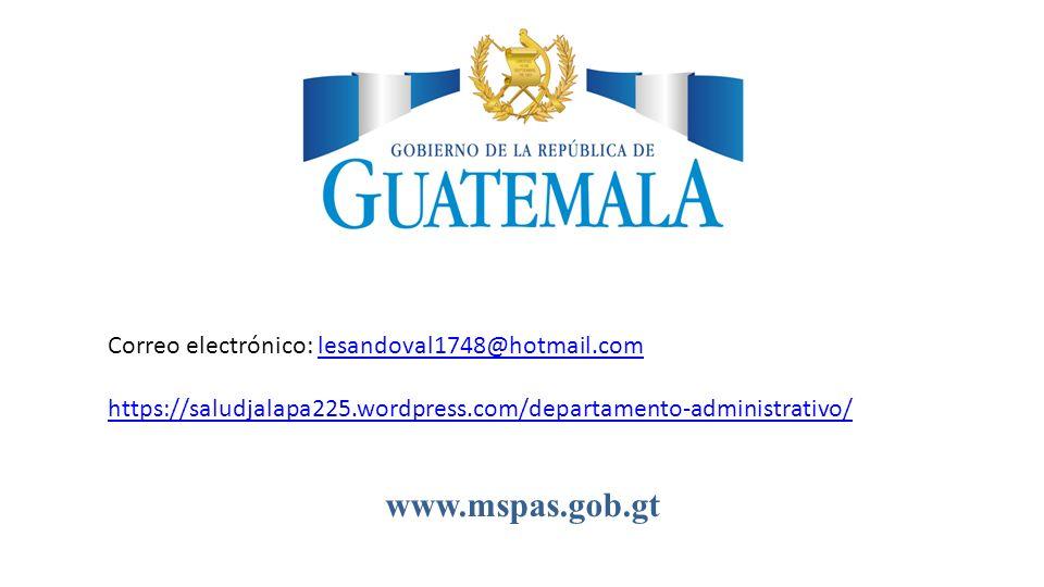 www.mspas.gob.gt Correo electrónico: lesandoval1748@hotmail.com