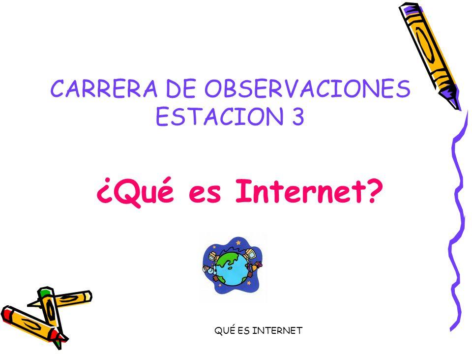 CARRERA DE OBSERVACIONES ESTACION 3