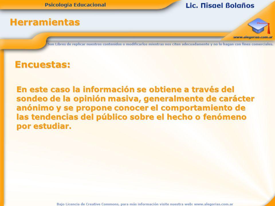 Herramientas Encuestas: