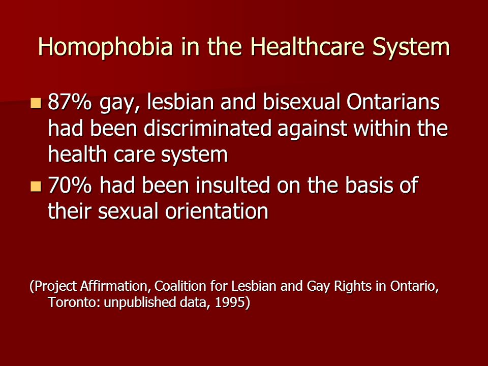 Homophobia in the Healthcare System