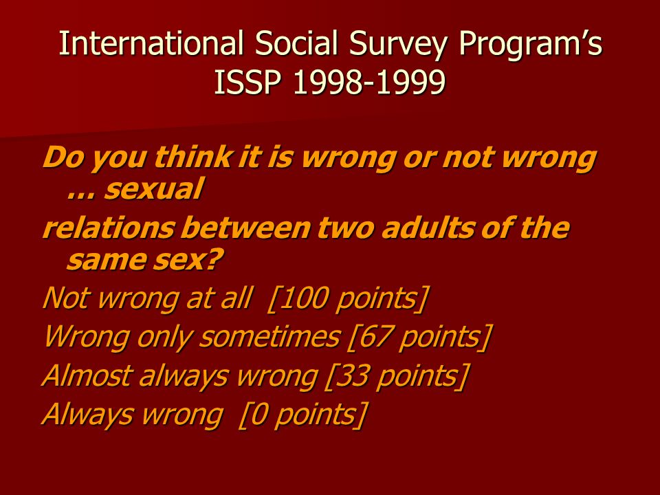 International Social Survey Program's ISSP 1998-1999