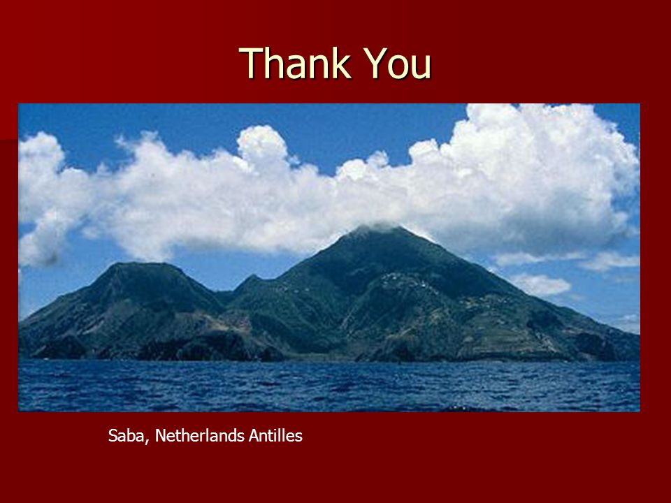 Thank You Saba, Netherlands Antilles