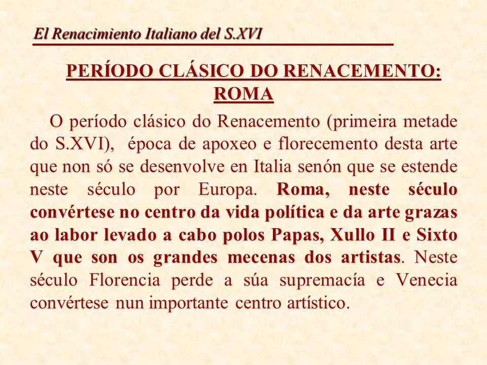 PERÍODO CLÁSICO DO RENACEMENTO: ROMA