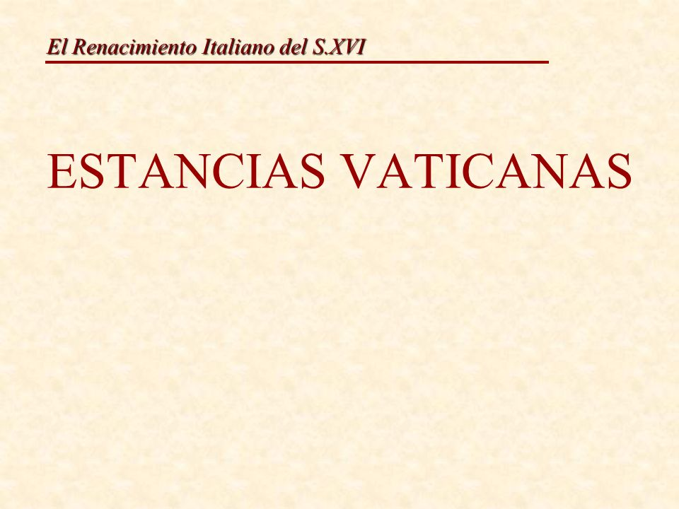 ESTANCIAS VATICANAS