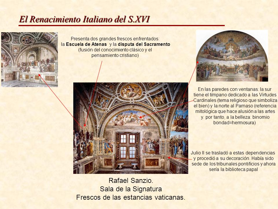 Frescos de las estancias vaticanas.