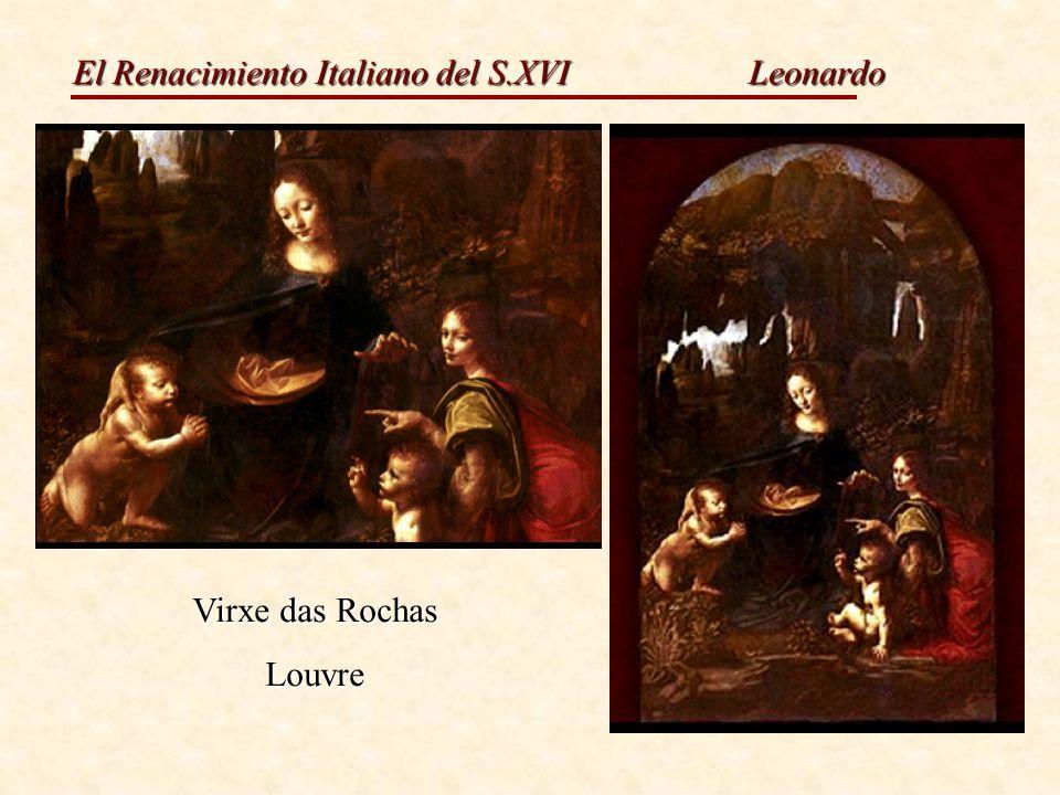 Leonardo Virxe das Rochas Louvre