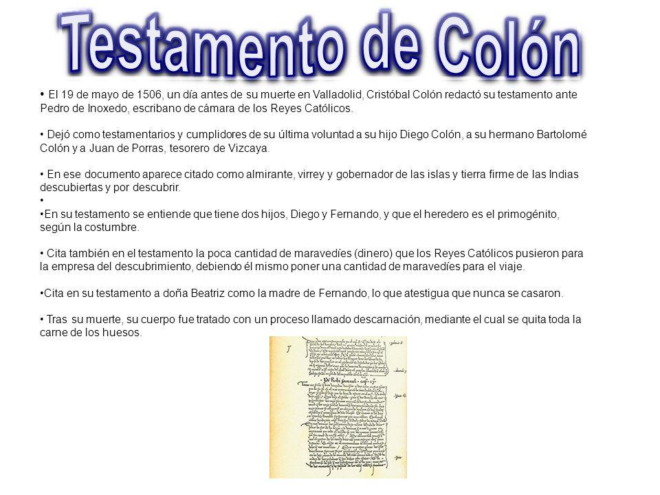 Testamento de Colón