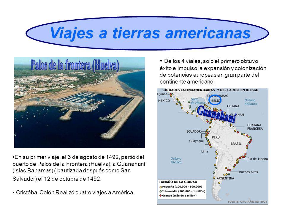 Viajes a tierras americanas Palos de la frontera (Huelva)