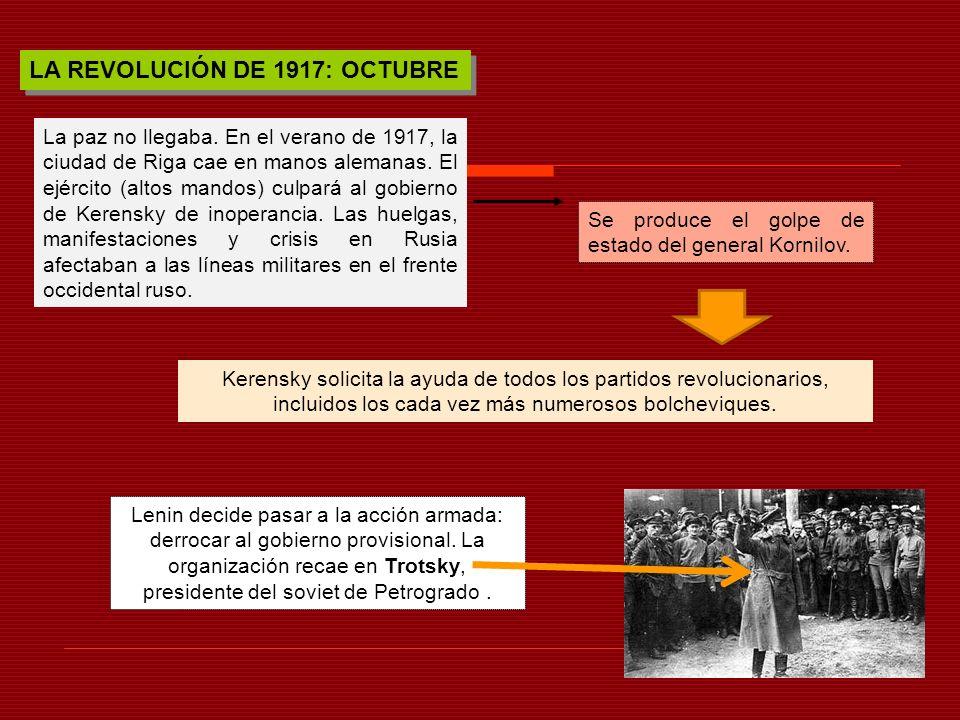 LA REVOLUCIÓN DE 1917: OCTUBRE