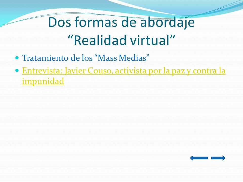 Dos formas de abordaje Realidad virtual