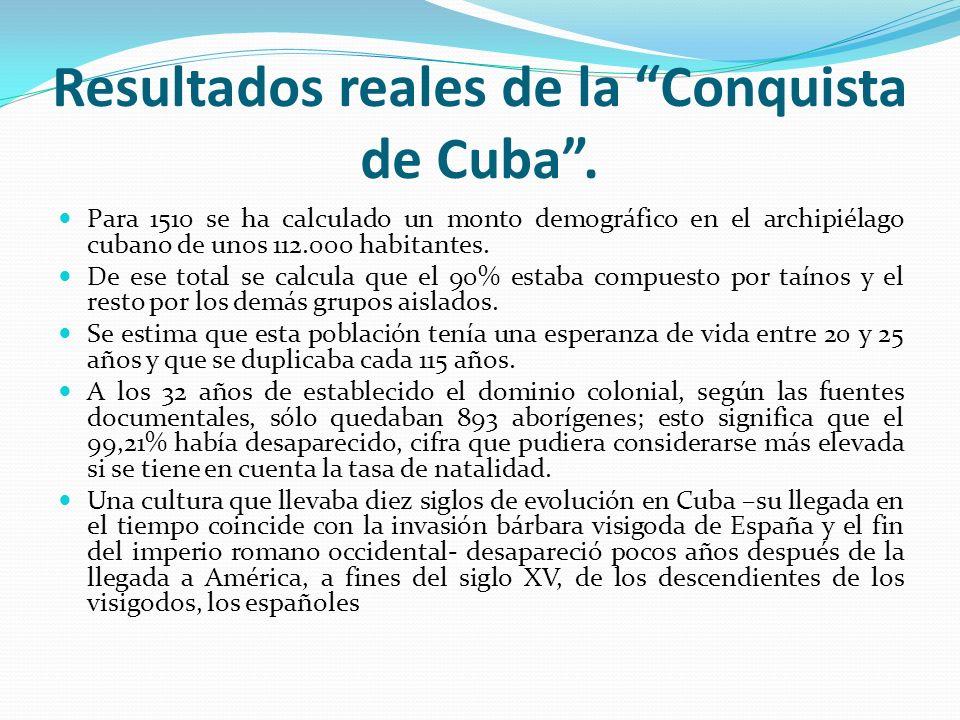 Resultados reales de la Conquista de Cuba .