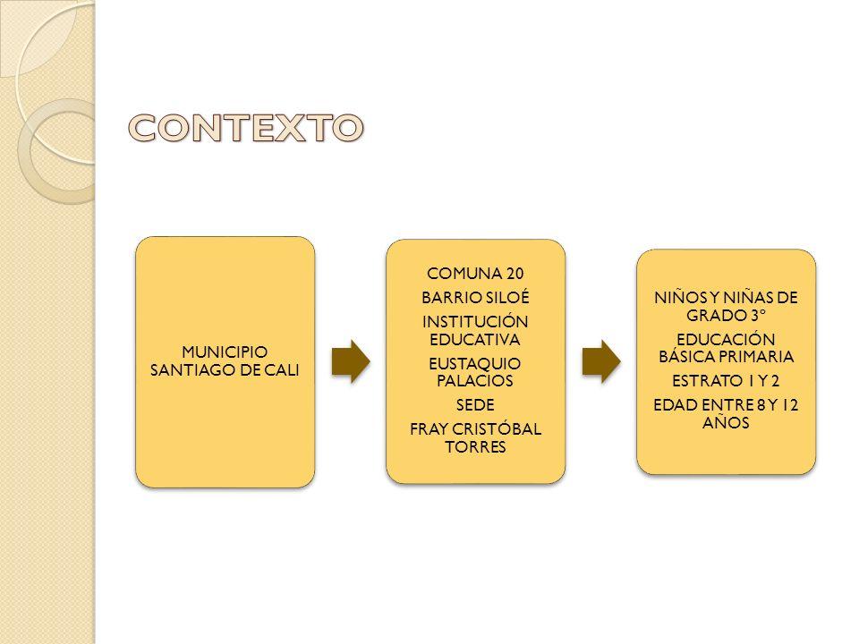 CONTEXTO COMUNA 20 BARRIO SILOÉ NIÑOS Y NIÑAS DE GRADO 3º
