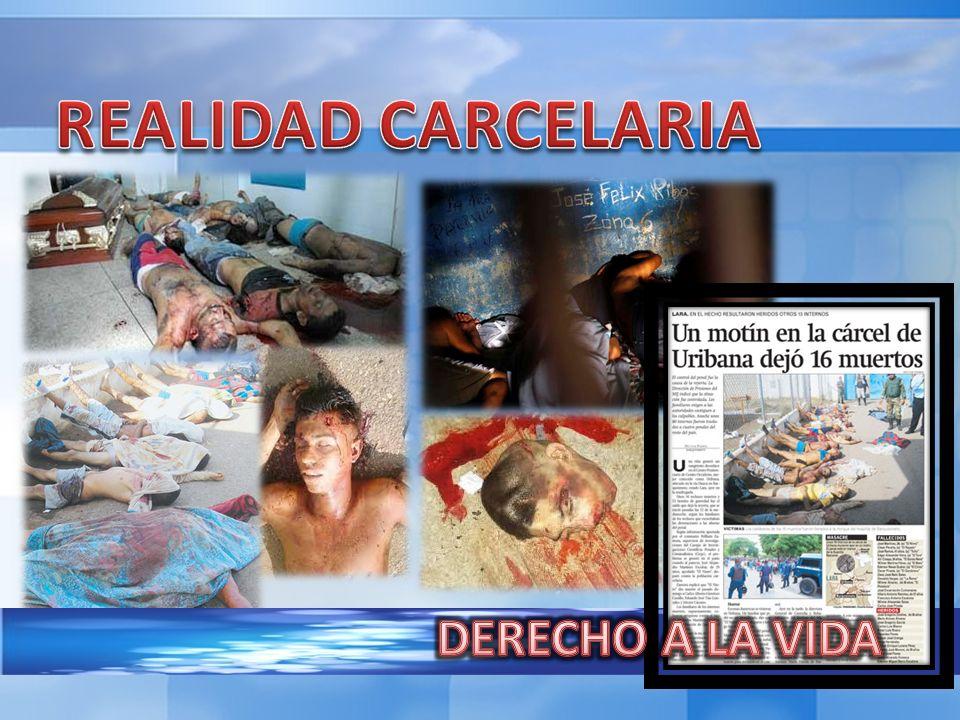 REALIDAD CARCELARIA DERECHO A LA VIDA