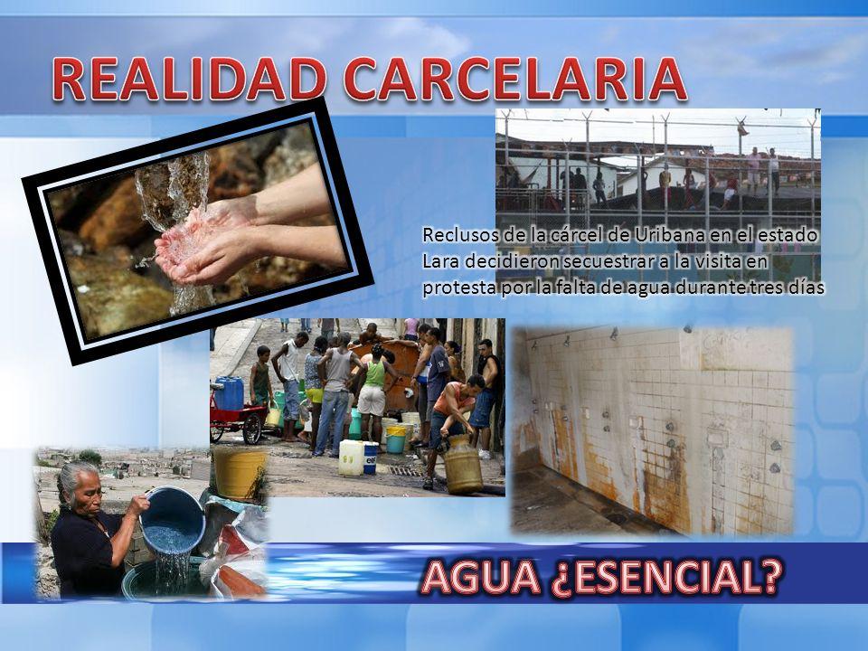 REALIDAD CARCELARIA AGUA ¿ESENCIAL