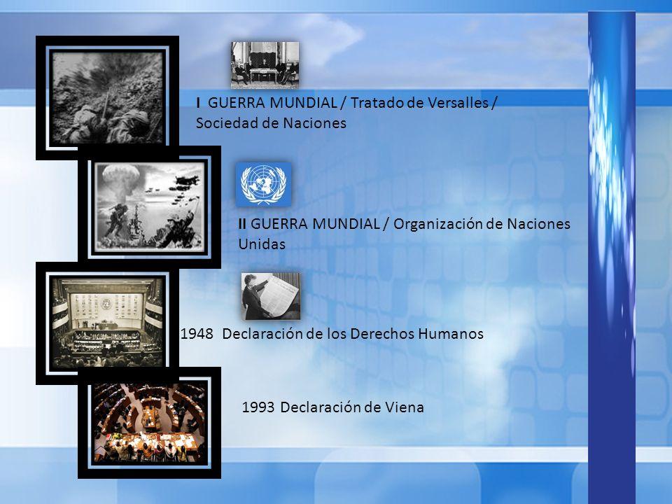 I GUERRA MUNDIAL / Tratado de Versalles / Sociedad de Naciones
