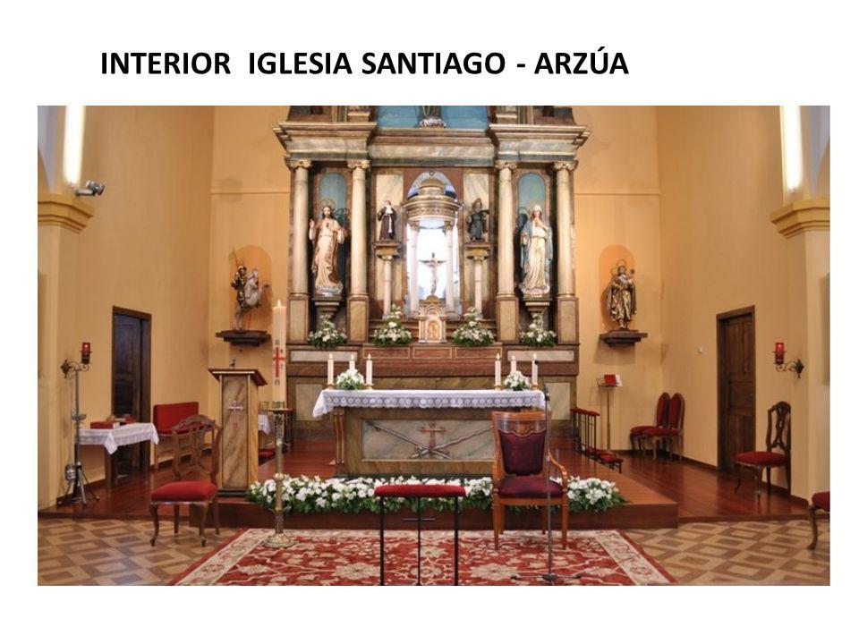 INTERIOR IGLESIA SANTIAGO - ARZÚA