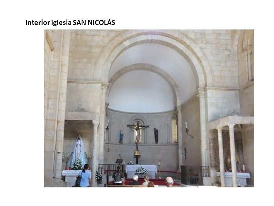 Interior Iglesia SAN NICOLÁS