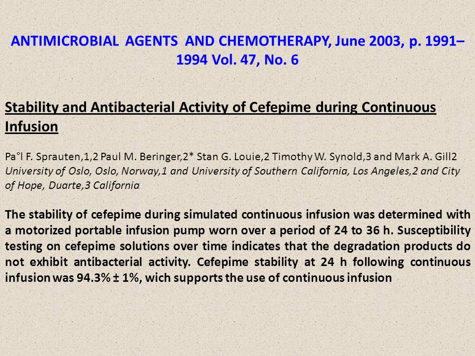 ANTIMICROBIAL AGENTS AND CHEMOTHERAPY, June 2003, p. 1991–1994 Vol