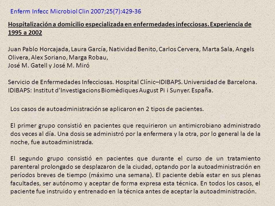 Enferm Infecc Microbiol Clin 2007;25(7):429-36