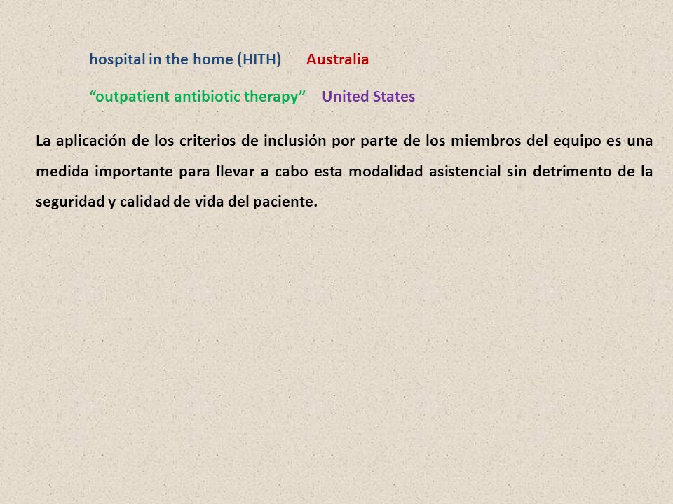 hospital in the home (HITH)