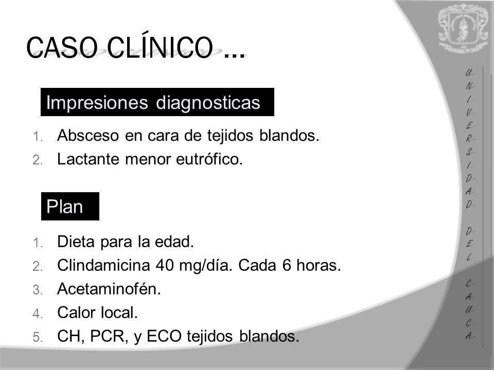 CASO CLÍNICO … Impresiones diagnosticas Plan