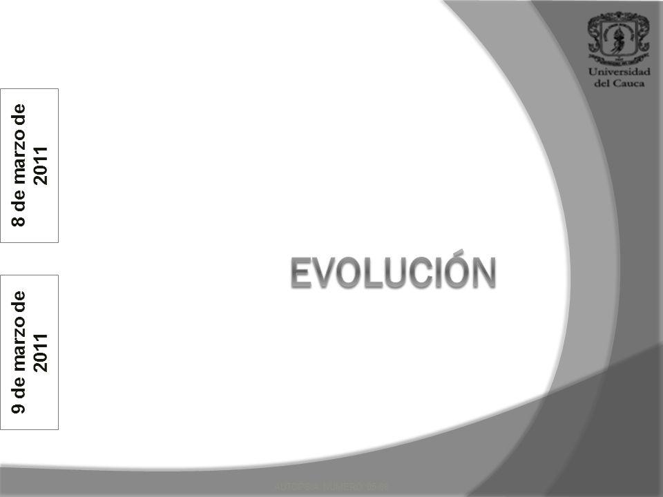 8 de marzo de 2011 evolución 9 de marzo de 2011 AUTOPSIA NUMERO 05-08