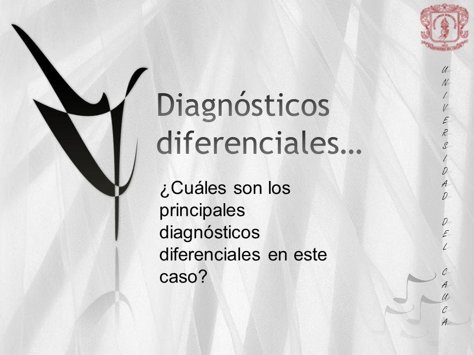 Diagnósticos diferenciales…