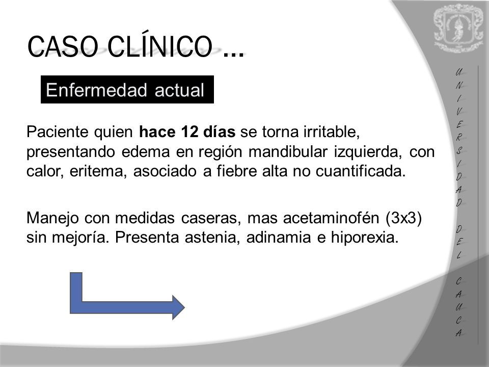 CASO CLÍNICO … Enfermedad actual