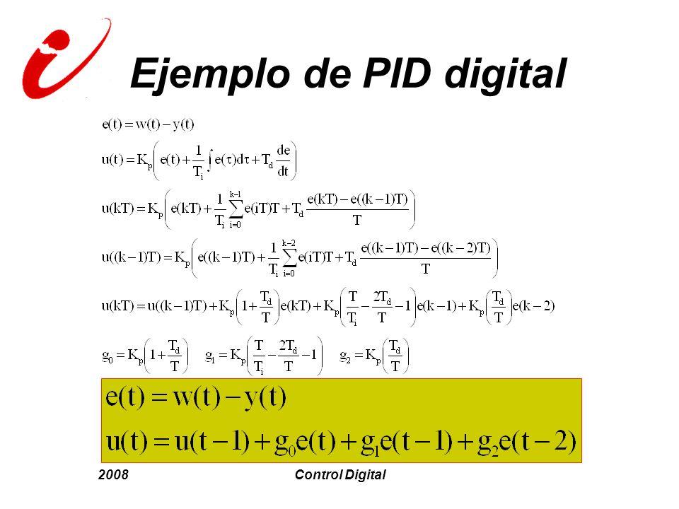 Ejemplo de PID digital 2008 Control Digital