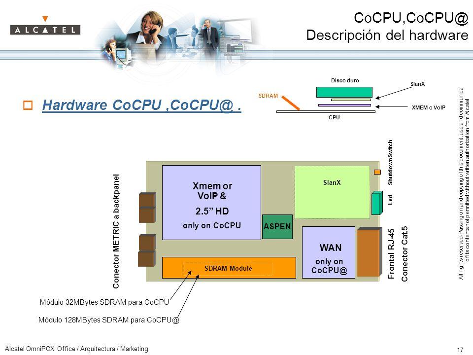 CoCPU,CoCPU@ Descripción del hardware