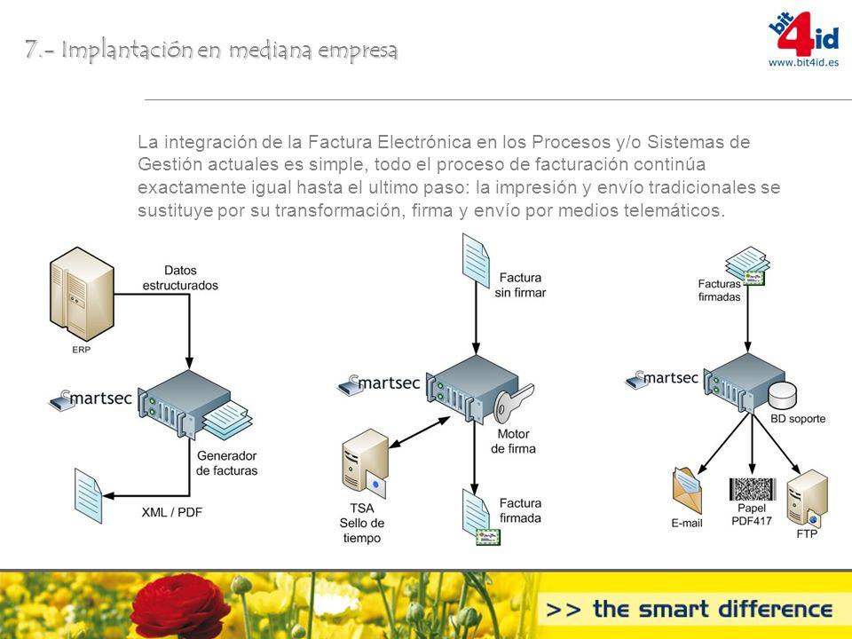 7.- Implantación en mediana empresa