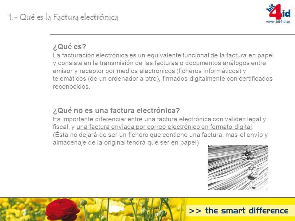 1.- Qué es la Factura electrónica