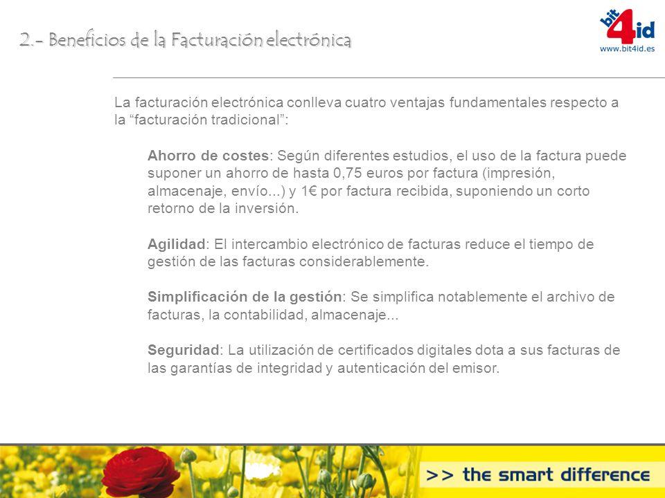 2.- Beneficios de la Facturación electrónica