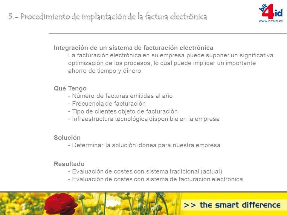 5.- Procedimiento de implantación de la factura electrónica