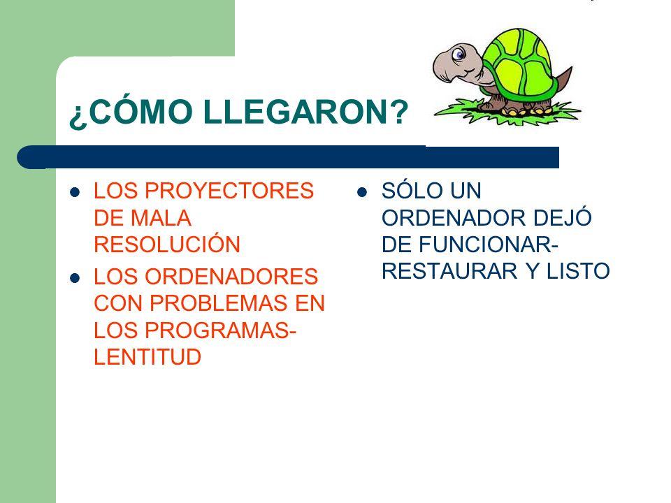¿CÓMO LLEGARON LOS PROYECTORES DE MALA RESOLUCIÓN