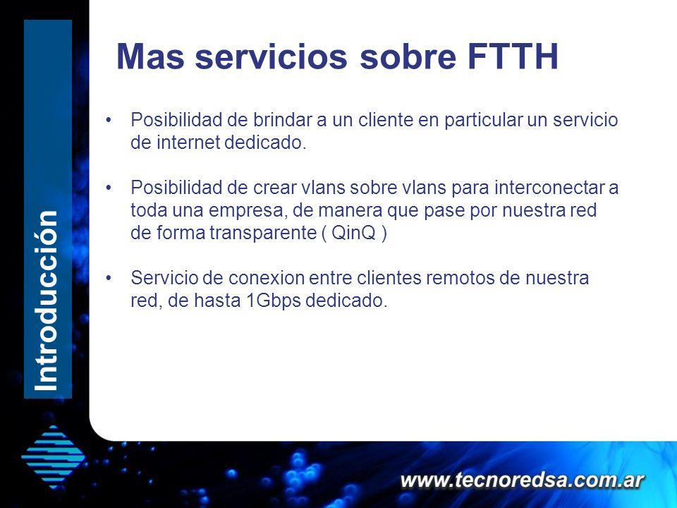 Mas servicios sobre FTTH