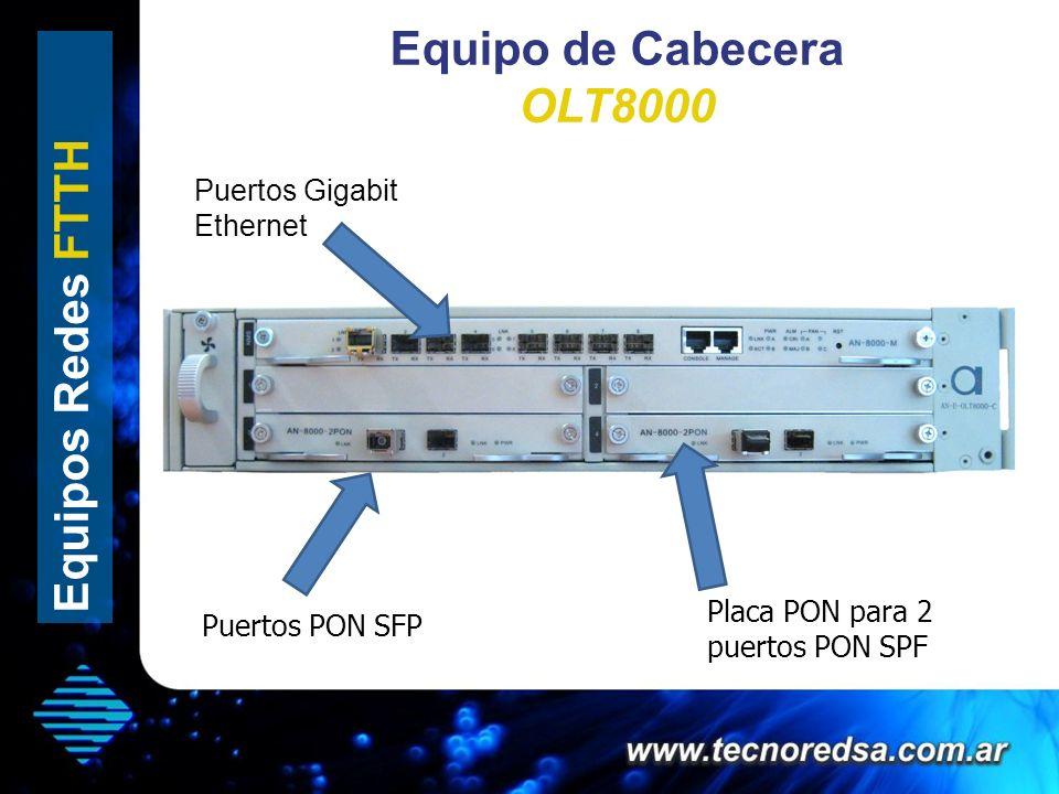 Equipo de Cabecera OLT8000 Equipos Redes FTTH Puertos Gigabit Ethernet