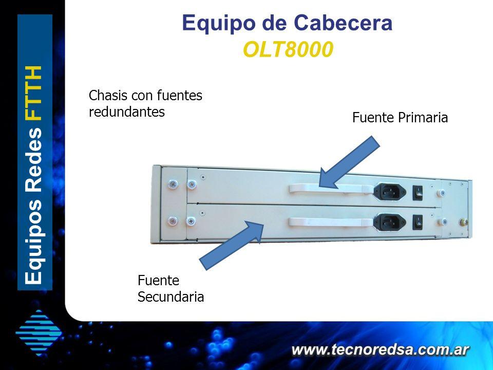 Equipo de Cabecera OLT8000 Equipos Redes FTTH