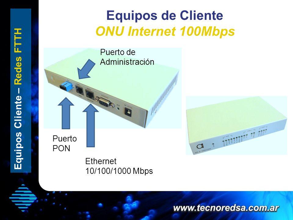 Equipos de Cliente ONU Internet 100Mbps