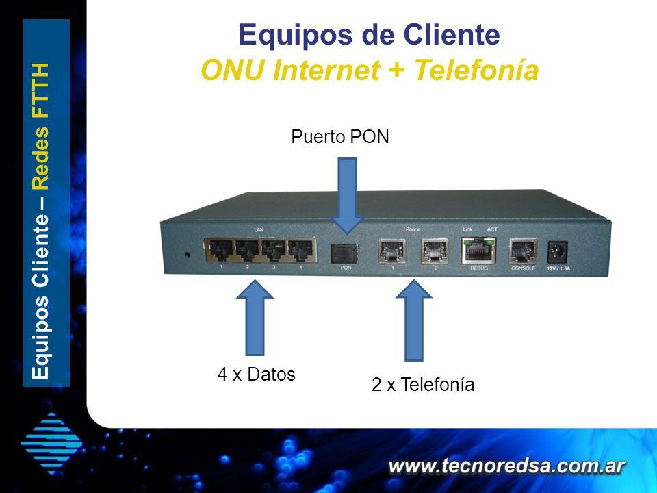 Equipos de Cliente ONU Internet + Telefonía